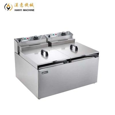 Double Deep Fryer Electric Fryer And Gas Fryer Pressure Fryer Food Truck Builders